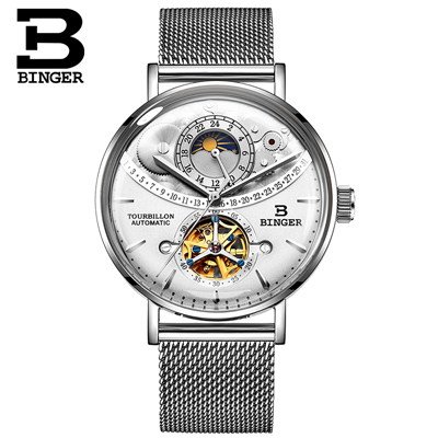 Switzerland Watch Men BINGER Automatic Mechanical Men Watches Luxury Brand Sapphire Relogio Masculino Waterproof Men Watch B-1-5