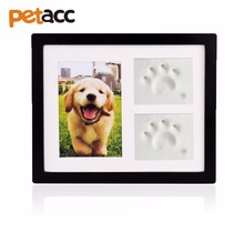 Petacc Pet Memorial Picture Frame Pet Paw Print Photo Frame Kit Pet Keepsakes Kit for Cats and Dogs with Clays