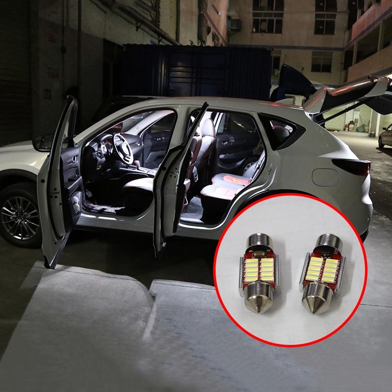 Image 2 - 5 шт. ошибок авто светодиодный лампы подсветка для салона автомобиля комплект белая лампа для чтения для внутреннего освещения для Mazda CX 5 CX5 CX 5 2017 2018 2019-in Наклейки на автомобиль from Автомобили и мотоциклы