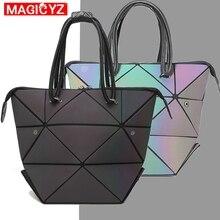 Luxury Luminous Women bag Laser handbags Irregular Triangle