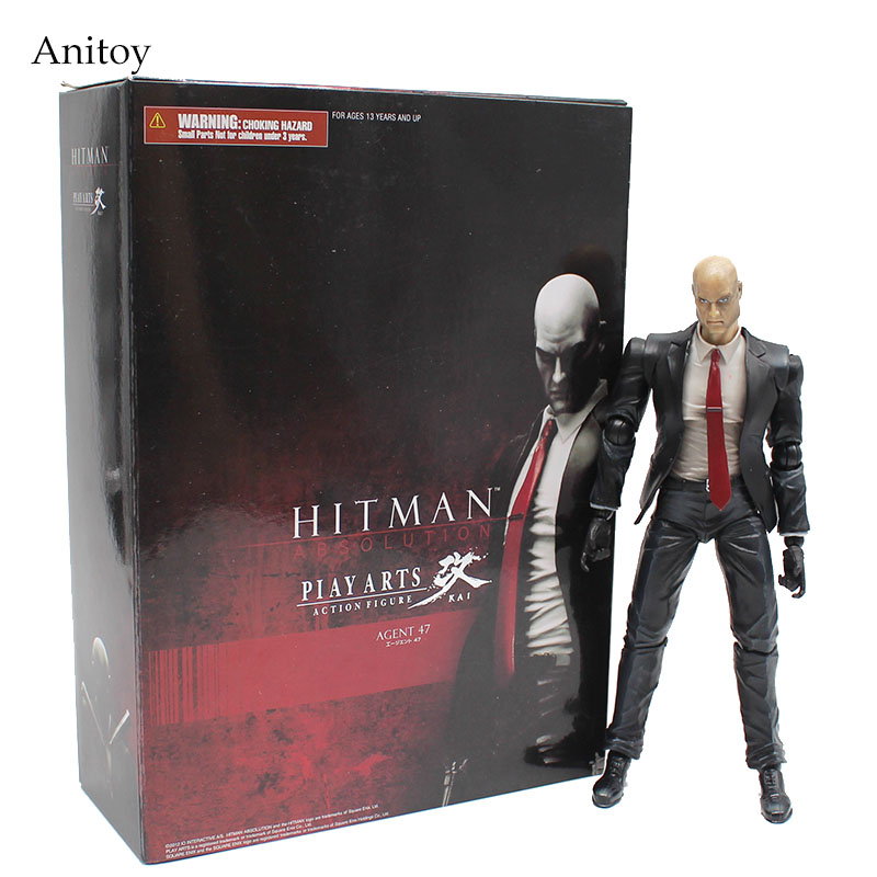 PLAY ARTS KAI HITMAN ABSOLUTION AGENT 47 PVC Figure Collectible Toy 21cm KT4124 image