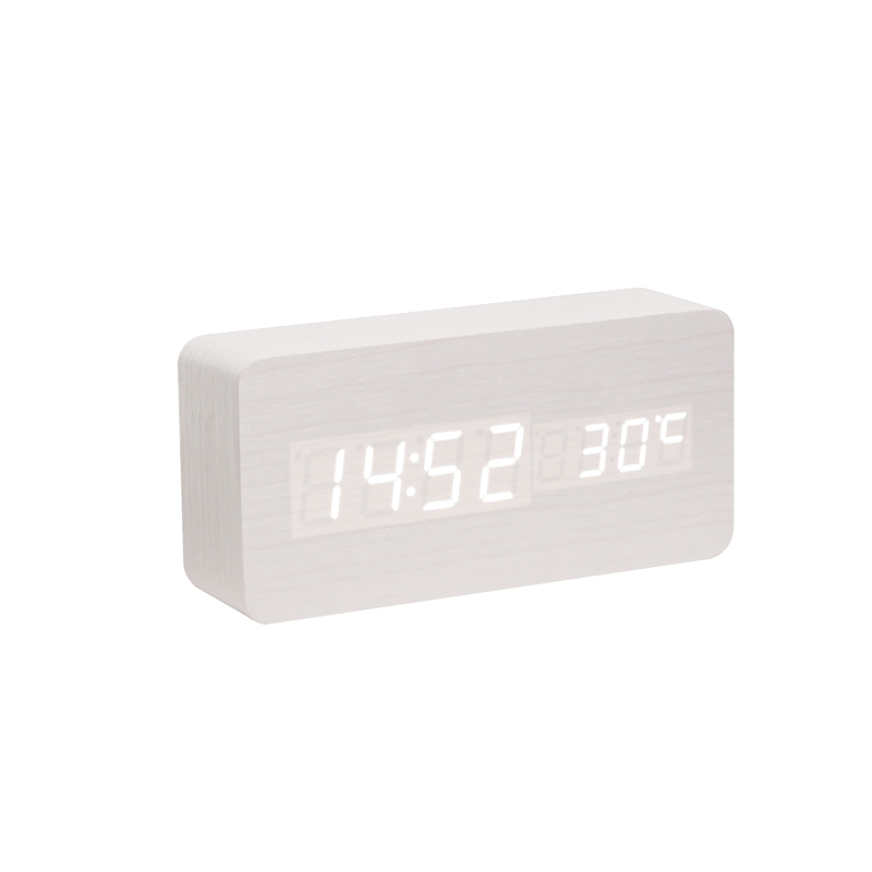 2017 New Modern Wooden Led Display Usb/battery Style Mute Luminous Electronic Digital Alarm Clock Simple Wood Clock For Students Sophisticated Technologies