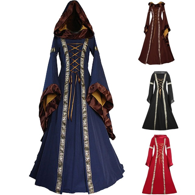 Dress For Women Vintage Palace Medieval Renaissace Gown Dresses Party  Dresses Slim-Fitting Plus Size S~XXL F1018 90b409a239c8