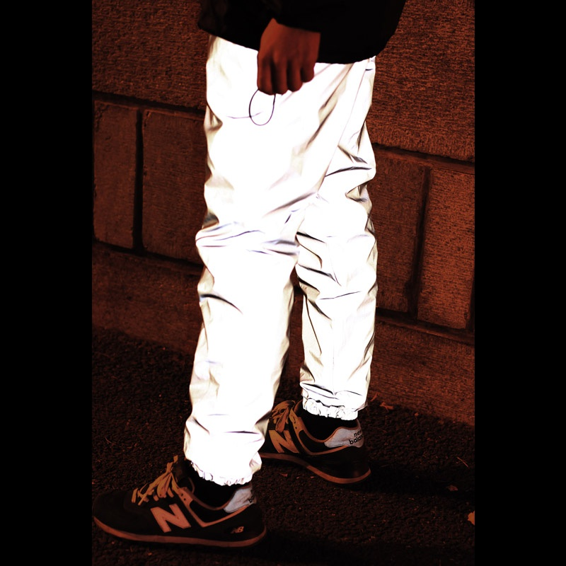 ФОТО Sallei high quality for joggerpants 3M reflective trousers outdoor reflective jogging trousers bboy pants