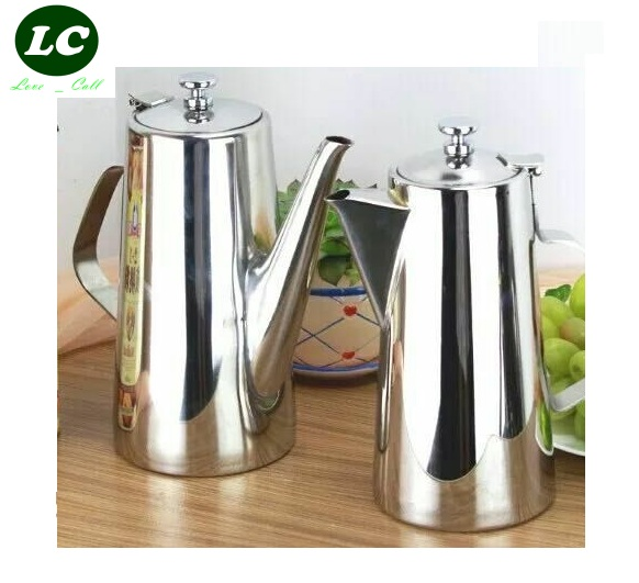 free shipping inox teapot Stainless steel kettle Teapot tea coffee pot cold water hotel dining room
