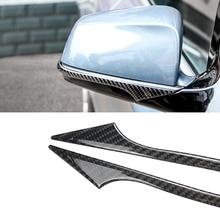 цена на Carbon Fiber Anti-collision Sticker For BMW E60 F10 F07 F01 GT 5 Series Car Styling Rearview Mirror Sticker Protector Bumper