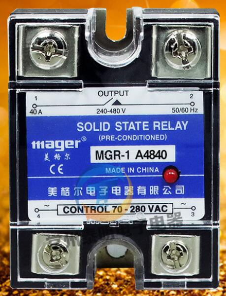 mager Genuine new original SSR Single-phase solid state relay 40A 220VAC-AC MGR-1 A4840 AC Controlled AC ssr mgr 1 d4860 meike er normally open type single phase solid state relay 60a dc ac