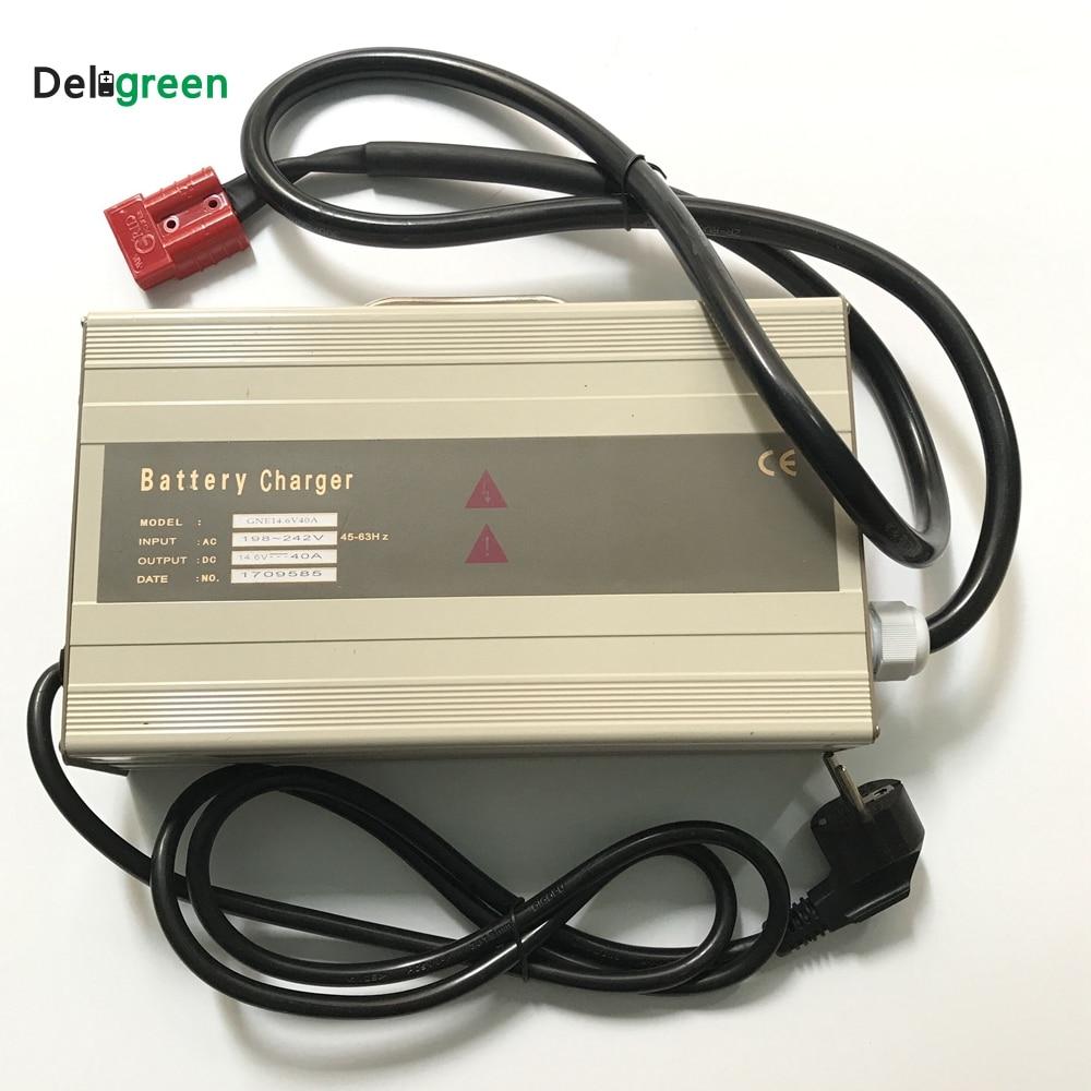 12 v 35A 40A Smart Caricatore Portatile per carrelli elevatori Elettrici, scooter per 16.8 v Li-Ion 14.6 v Lifepo4 LiNCM batteria al piombo