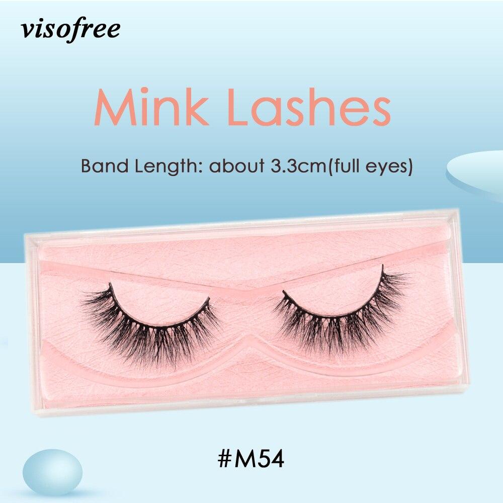 Visofree Mink Lashes 3D Mink Eyelashes Ultra Fluffy Collection Medium Volume Mink False Eyelashes Cruelty Free Lashes Makeup M54