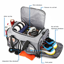 Sports Fitness Bag Beach Dry-wet Separation Bags Hand-held Large Capacity Folding Cylinder Travel Bags Single Shoulder Bag