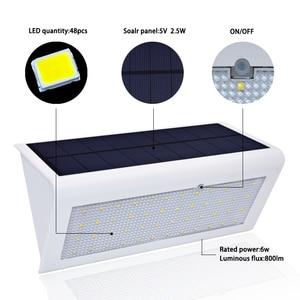 Image 3 - משודרג 4 ב 1 שמש אורות 800lm 46 נוריות אלחוטי אבטחה חיצוני גן מנורת אור עם 4 אינטליגנטי מצבים