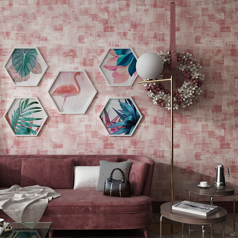 Retro Personality Mottled Lattice Wallpaper 3D Imitation Diatom Mud Non-Woven Wall Paper Living Room Dining Room Background Wall beibehang wall paper pune nostalgic retro irregular horizontal stripes non woven mottled backdrop wallpaper bedroom living room