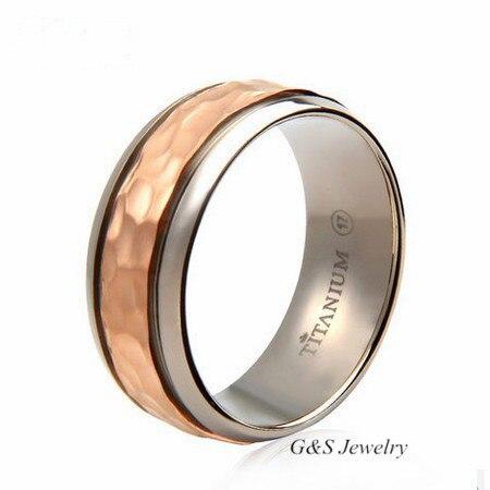 Male wedding ring on finger