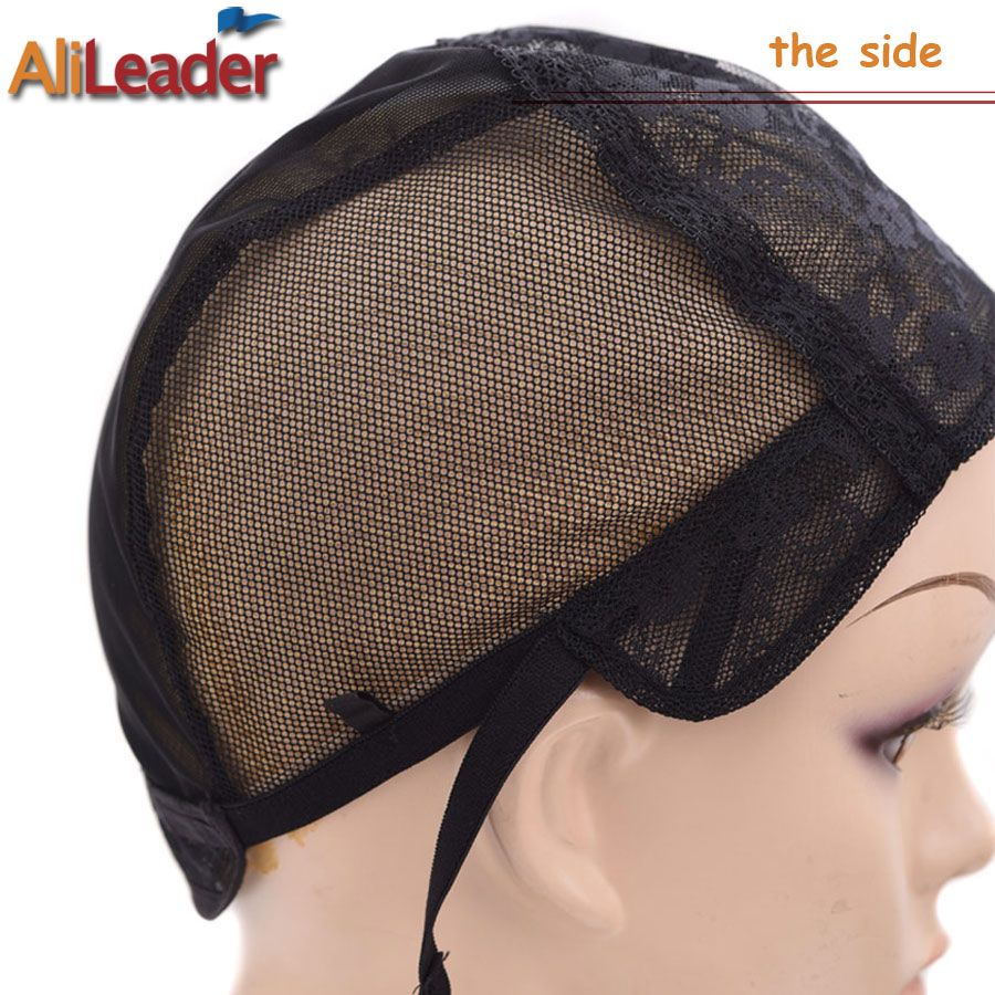 1 Pcs Double Lace Wig Caps For Making Wigs And Hair Weaving Stretch Adjustable Wig Cap Hot Black Dome Cap For Wig Hair Net Tools & Accessories