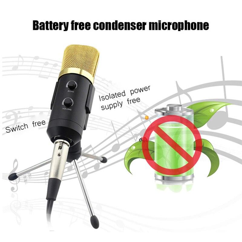 Gbtiger bm-100fx usb condensador de gravação de som microfone com braodcasting
