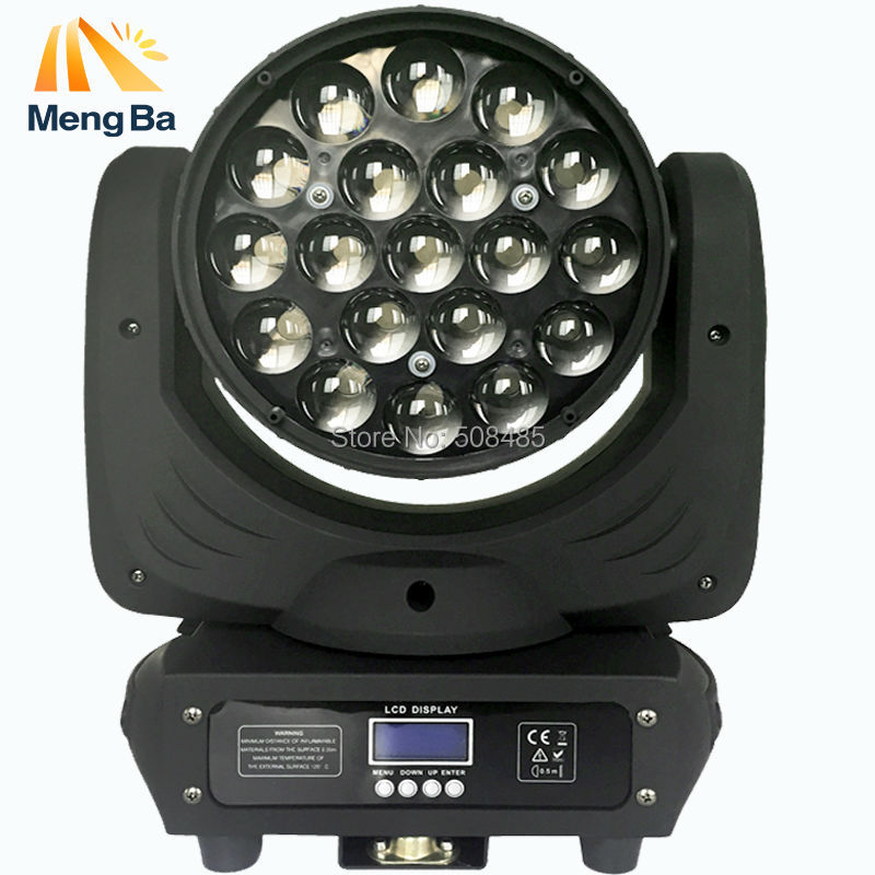 19*12w Led RGBW Wash/Zoom Light 16 Channels DMX512 Moving Head Light Professional Stage Light & DJ/Party/Stage Lighting Effect