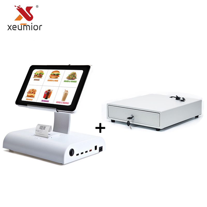 10 Android Tablet Pos Machine Pos System With Restaurant Software Built In 58mm Thermal Printer + Cash Drawer pos hardware with 15inch single led display all in one pos cash register built in with 58mm thermal bill printer for restaurant