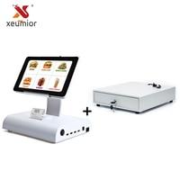 10 android планшет Pos машина Pos Системы с Ресторан программного обеспечения, встроенных в 58 мм Термальность принтер + денежный ящик