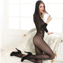transparent Pure color Caps Hollow out body-Stocking socks Tighten body sexy costumes catsuit bodystocking open crotch lingerie