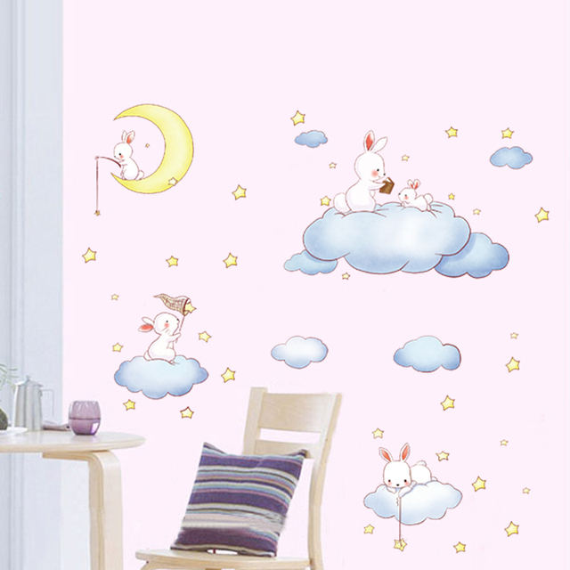 little cloud wall stickers wall decal, diy home decoration wall art