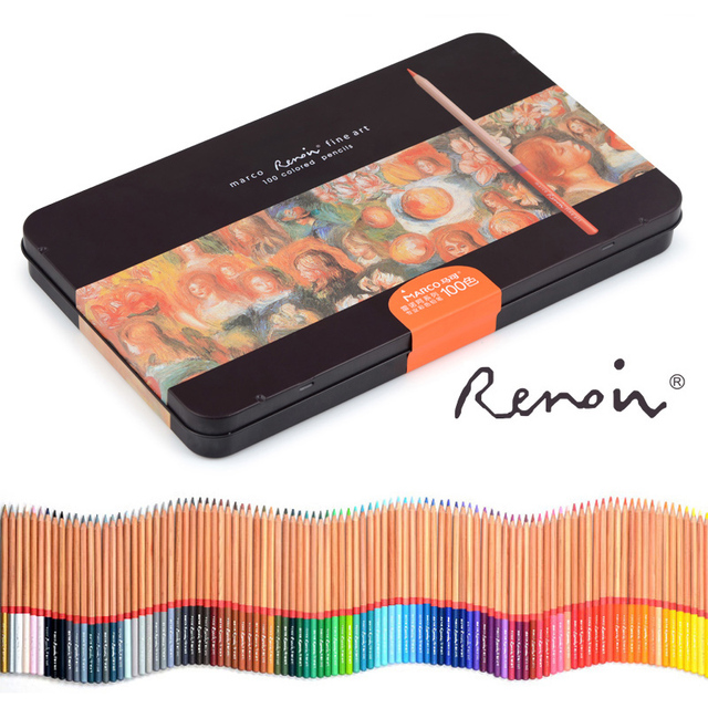 Renoir 48/72/100/120 watercolor and oil color pencil for hand painting and coloring specialist for artists Art supply color pen