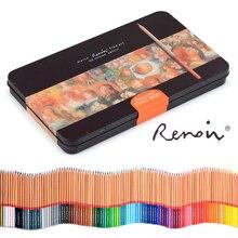 Renoir lápis de aquarela 48/72/100/120, especialista em aquarela e cor de óleo para pintura à mão e coloração caneta colorida para artistas e arte