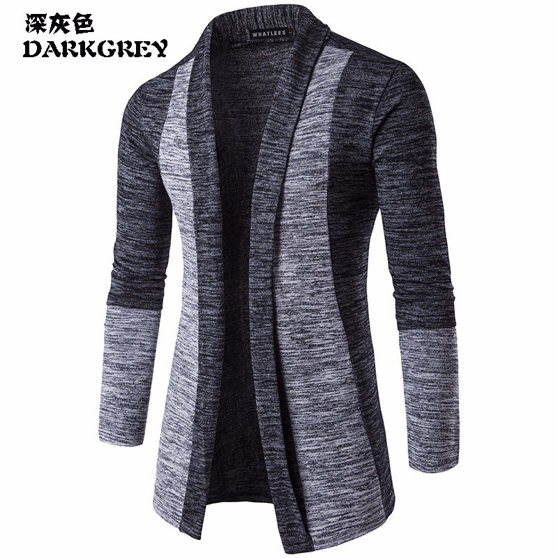 2018 Hot Sale Brand-Clothing Spring Cardigan Male Quality Cotton Sweater Men Casual Warm Gray Redwine Mens Sweaters