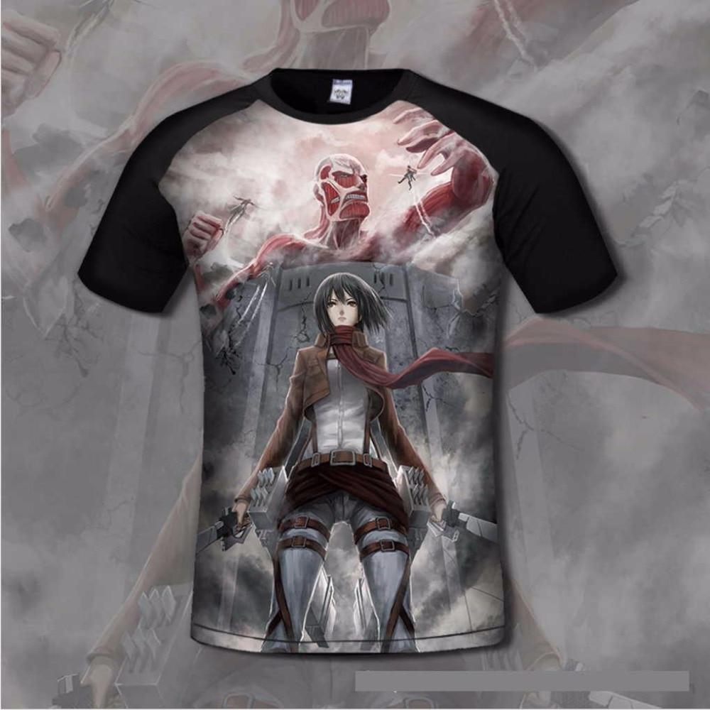 3d Print Comfortable Attack On Titans Mens T Shirt O Neck