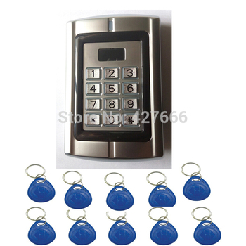 High Quality 2PCS RFID Proximity Metal Standalone Access Control Machine Metal Access Controller with 20 pcs Keyfobs