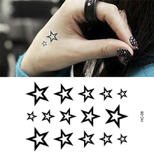 Elegant Hollow Stars Finger Wrist Arm Waterproof Transfer Flash Tattoo Tatoo Stickers