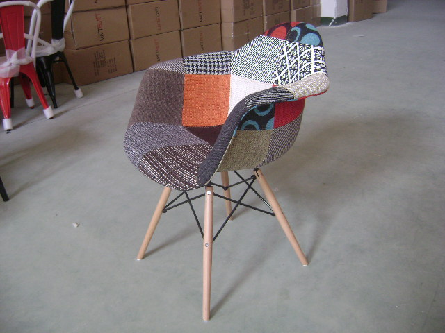 Design moderno patchwork copertina morbida imbottita sgabello da bar