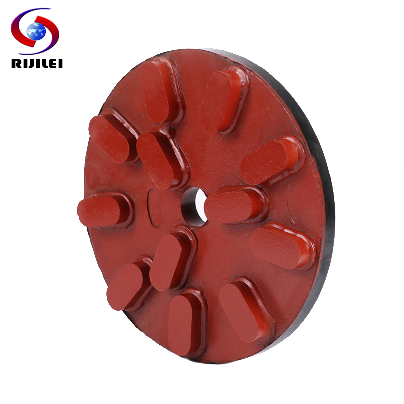 RIJILEI 250mm Diamond Resin Polishing Disc 10inch Marble Resin Polishing pad Grinding Plate for Marble Granite Concrete RM05 цена