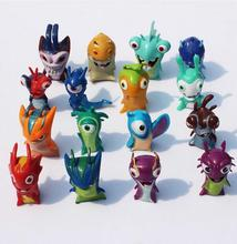 Free shipping 2016 New 16pcs/set 4-5cm Anime Cartoon Slugterra Mini PVC Action Figures Toys Dolls Child Toys