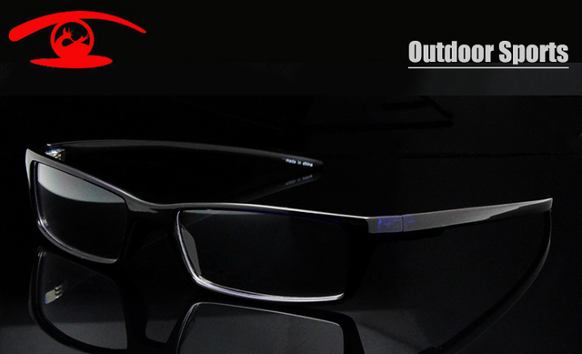 New Fashion 2015 RX Glasses for Sports TR90 Flexible Prescription Eyeglasses Frame Men Outdoor Spectacle Frame in Clear Lens