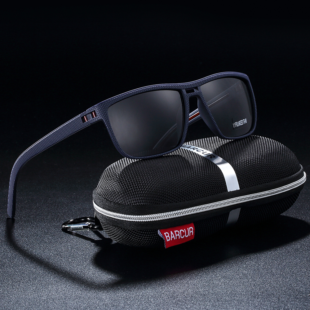 Image 3 - BARCUR Design Ultralight TR90 Sunglasses Men Polarized Driving Sun glasses Male Outdoor-in Men's Sunglasses from Apparel Accessories on AliExpress