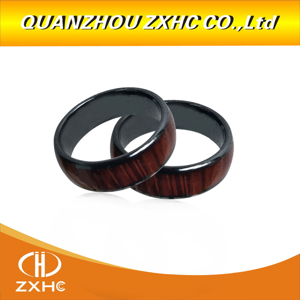 2019  New 125KHZ/13.56MHZ RFID Wood Color Ceramics Smart Finger Ring Wear For Men Or Women
