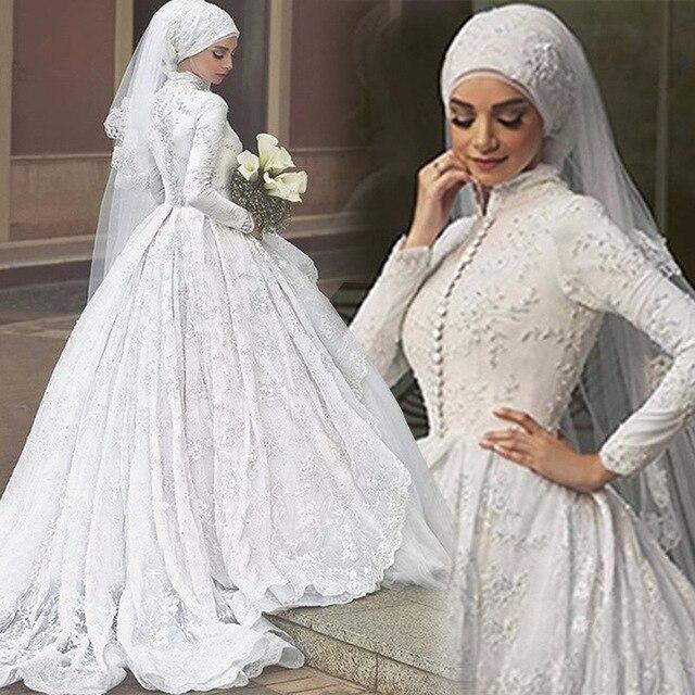 Dubai Wedding Dresses Long Handmade Bridal Ball Gowns On Sale 2017 ...