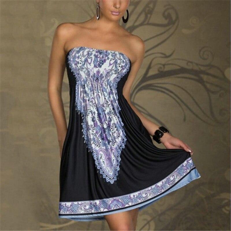 sexy vestido de verano de las mujeres patrón floral vintage impreso summer dres