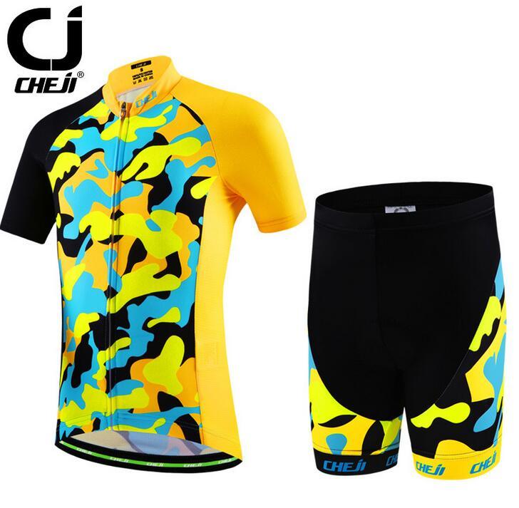 CHEJI Youth Kids Riding Clothing Set Bike Bicycle Jersey Shorts Cycling Wear cheji jersey shorts