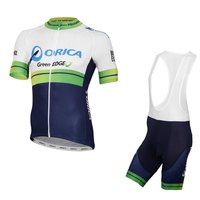 2016 pro team orica cycling jersey kits Short sleeve bike cloth MTB Ropa Ciclismo Bicycle maillot jersey and bib shorts GEL pad