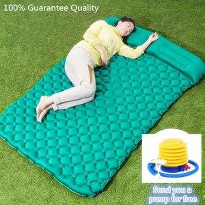 Image 3 - Air Moistureproof Camping Mats Sleeping Pad Inflatable Cushion Outdoor Lightweight Picnic Beach Plaid Blanket Home Rest Air Mats