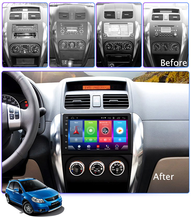 Car Android 8.1 <font><b>Multimedia</b></font> Player for <font><b>SUZUKI</b></font> <font><b>SX4</b></font> 2006-2016 <font><b>GPS</b></font> Navigation Device USB bluetooth steering wheel control support image