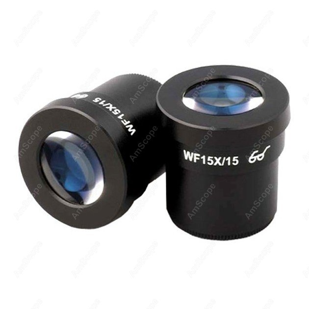 Microscope Eyepiece-AmScope Supplies   Pair of Super Widefield 15X Microscope Eyepieces (30mm)  цены