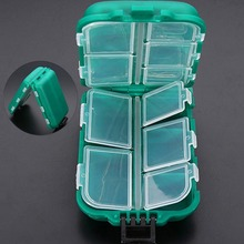 10 Compartments Waterproof Fishing Box
