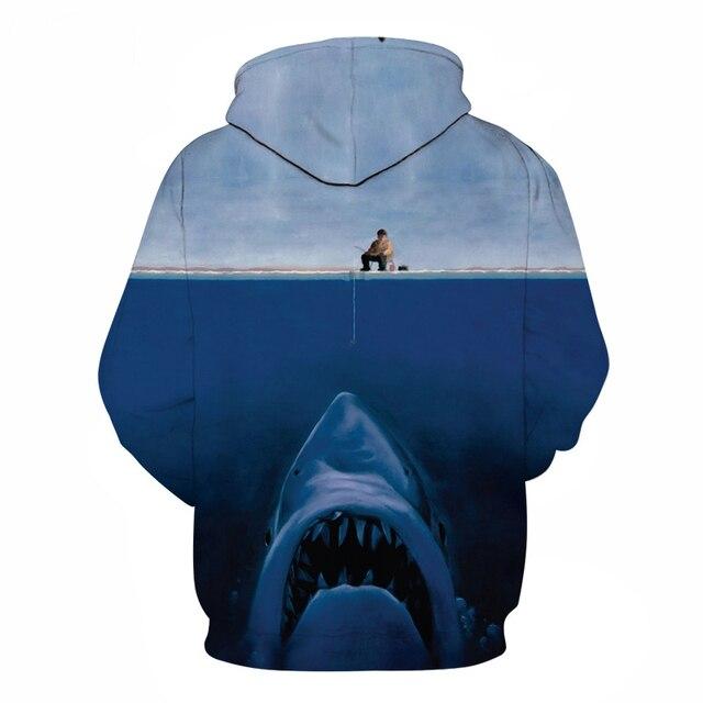 Men's Big Shark 3D Print Hoodie 1