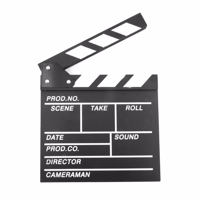 Diretor Cena Vídeo Claquete TV Movie Clapper Board Film Slate Cut Prop