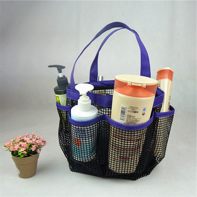 For Gym Portable Quick Dry Mesh Shower Caddy Storage Bag With 8 Pockets