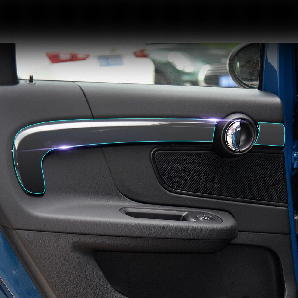 Car interior center console panel kit tpu transparent protective film sticker for mini cooper for Automotive interior protective film