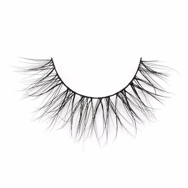 Eyelashes 3D Real Mink Eyelashes Natural Long False Eyelashes 100% Hand Made False Lashes Eye Extension cilios Long lasting 1