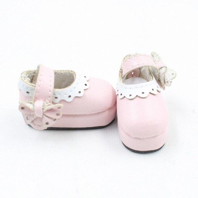 Neo Blythe Doll Designer Pink Leather Shoes 1